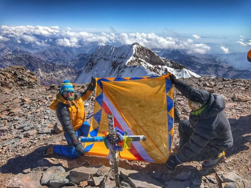 Альпіністка з Мукачева Ірина Галай підкорила найвищу гору південної півкулі Аконгауа: фото, фото-1