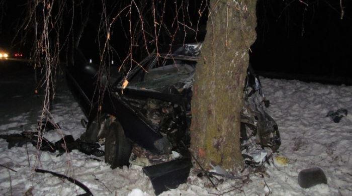 17-летний шофёр врезался вдерево: умер пассажир