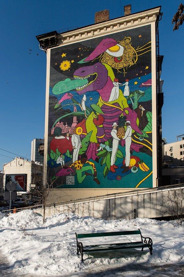 В Киеве открыли мозаику про динозавров, фото-4