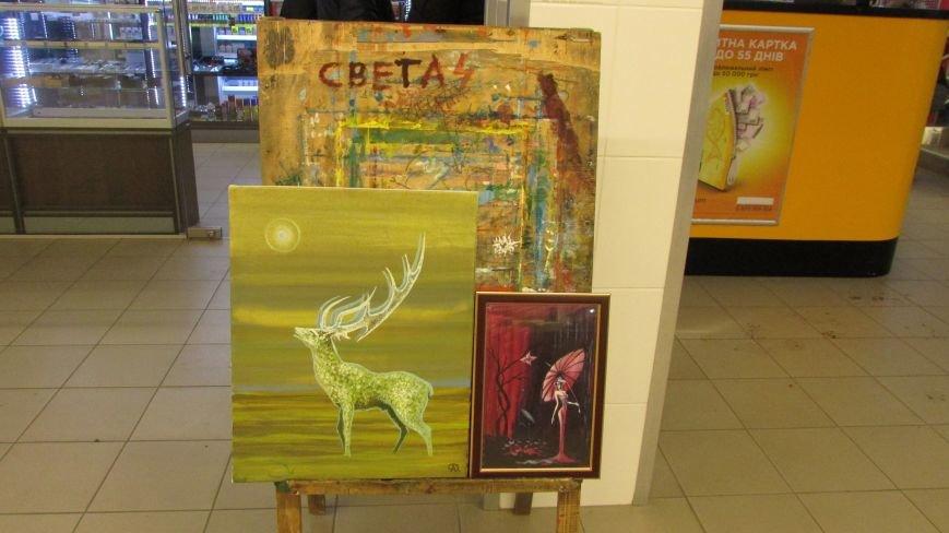 В Мелитополе открылась выставка картин воина АТО, фото-1