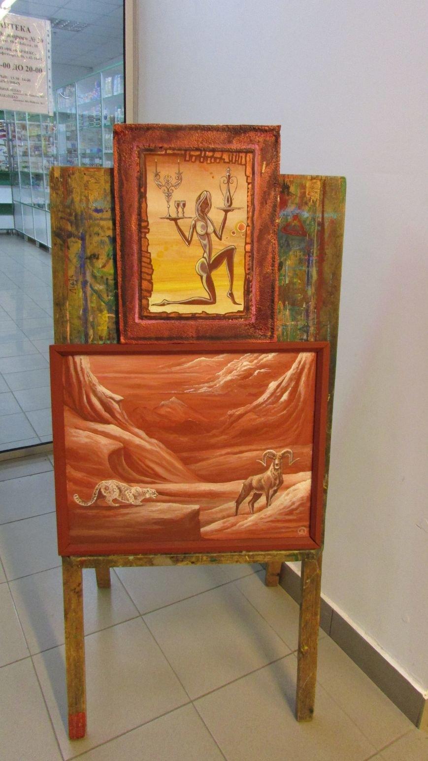 В Мелитополе открылась выставка картин воина АТО, фото-2