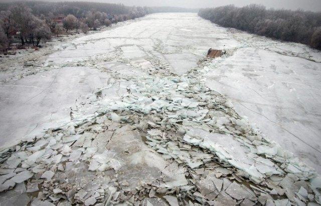 """Закарпатський льодохід добрався до Угорщини - дикі тварини """"гуляють"""" кригою: фото, відео, фото-2"""