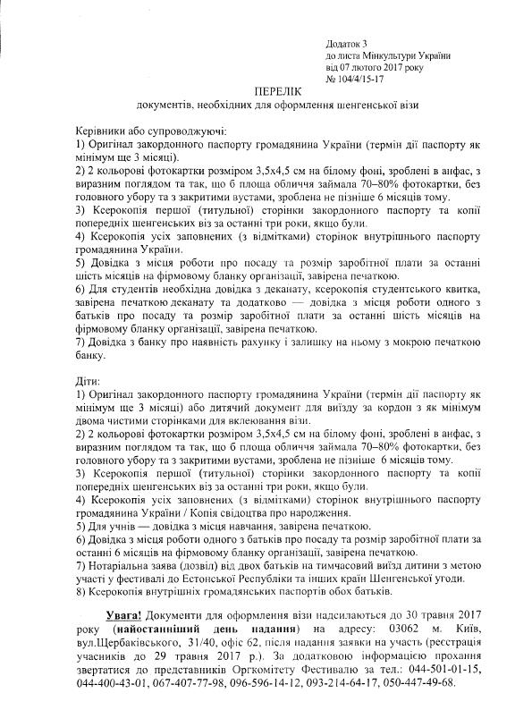 перелік документів