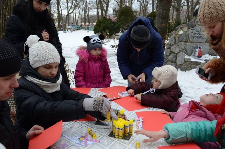 Как в зимнем парке горожане бумажные шедевры мастерили, фото-4