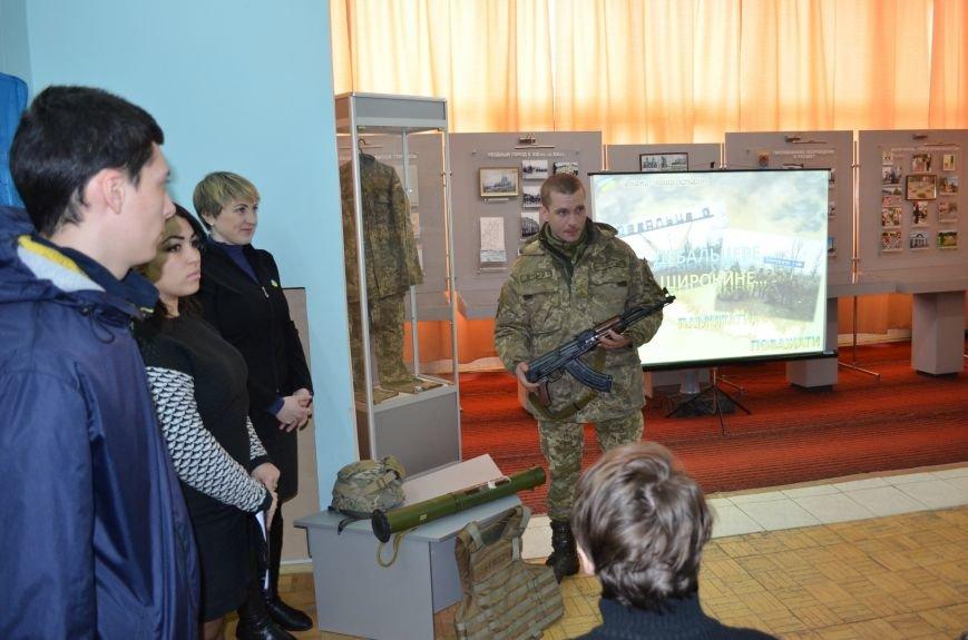 Мелитопольским гимназистам рассказали о жестоких боях за Дебальцево, фото-2