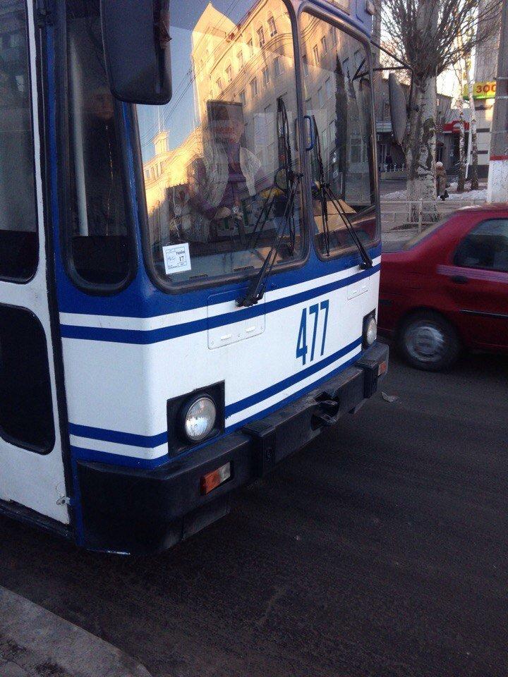 Водитель троллейбуса кроет матом херсонцев (фото), фото-2