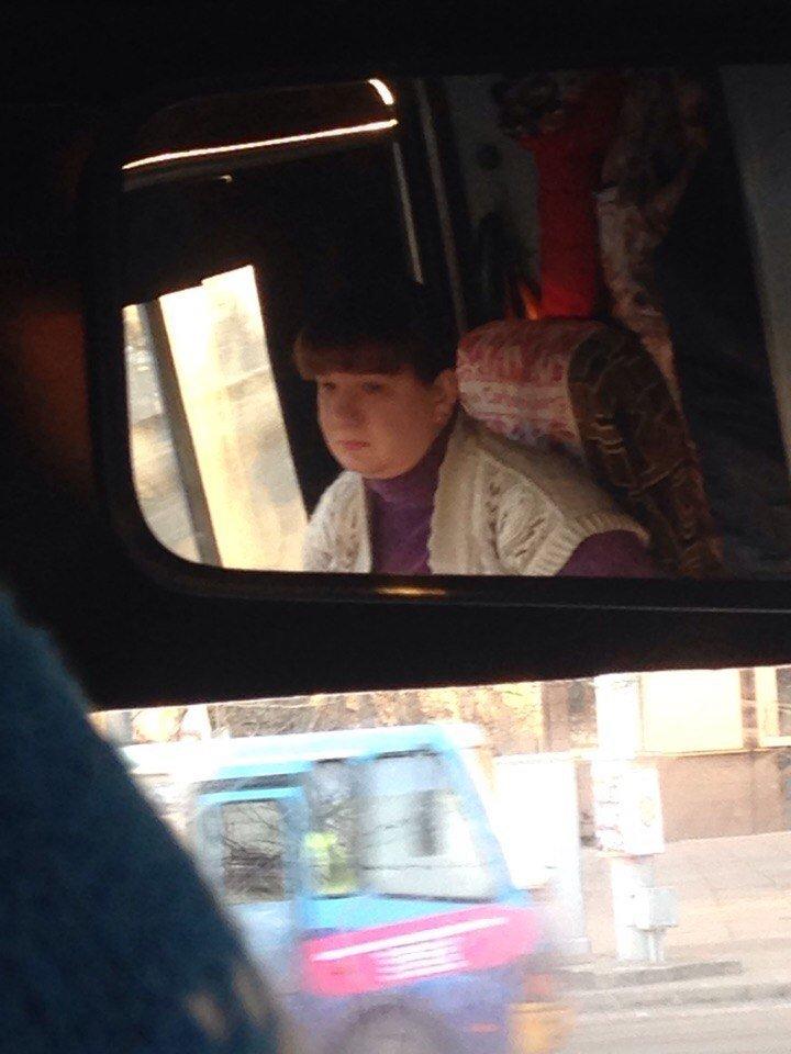 Водитель троллейбуса кроет матом херсонцев (фото), фото-1