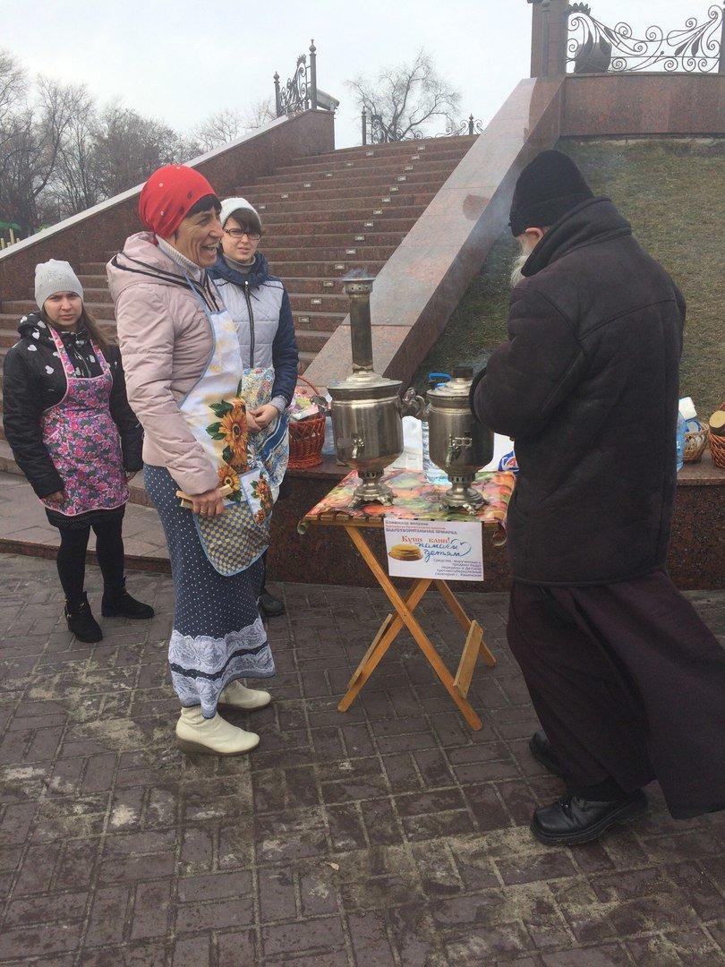 На Соборной площади Каменского прошла ярмарка, посвященная Масленице, фото-3