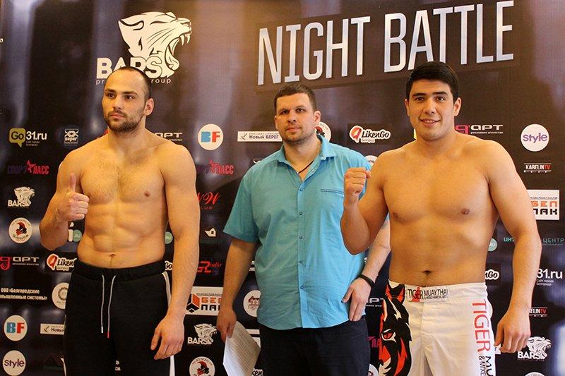 В Белгороде взвесили бойцов турнира Bars Night Battle, фото-5