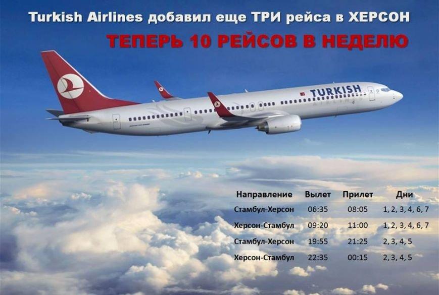Количество авиарейсов Херсон-Стамбул увеличивается (расписание), фото-1