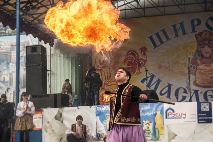 Белгородцы попрощались с зимой и сожгли Масленицу. Фоторепортаж, фото-14