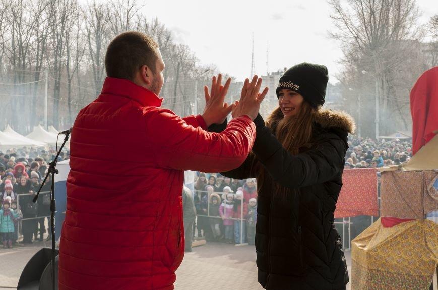 Белгородцы попрощались с зимой и сожгли Масленицу. Фоторепортаж, фото-11