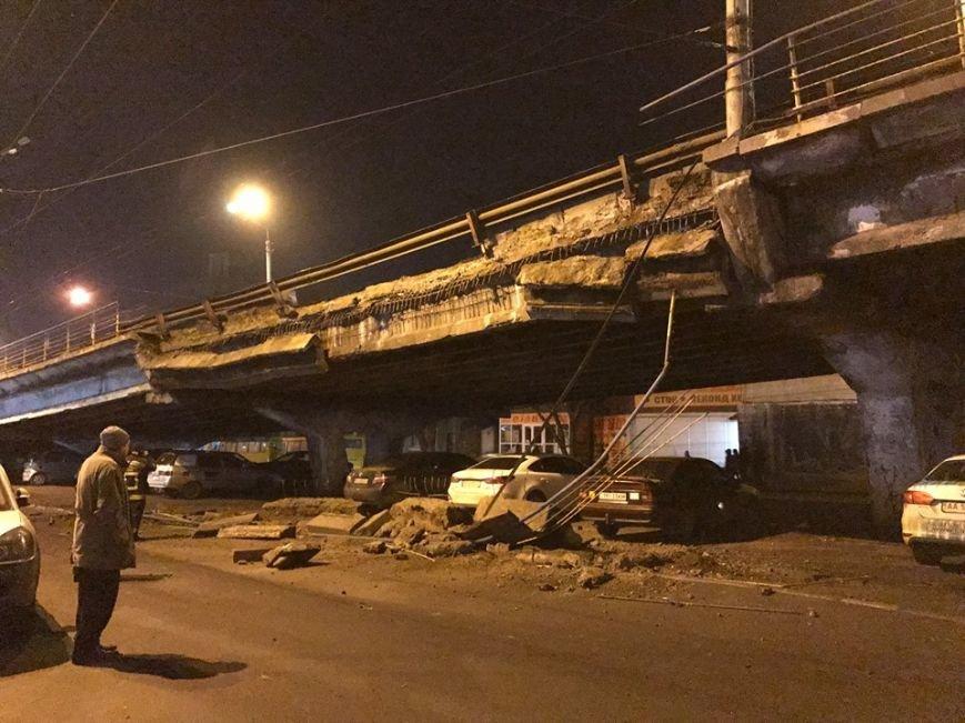 На Шулявке рухнул мост (ФОТО), фото-1