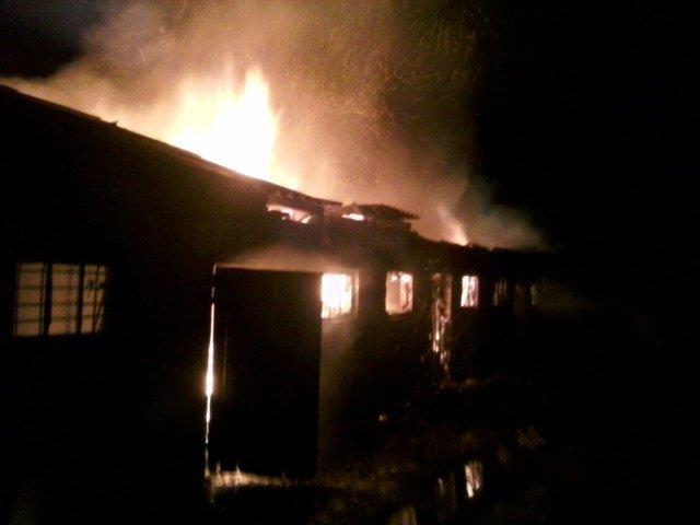 В Броварах загорiлася господарча будiвля, фото-1