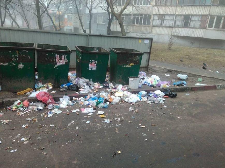 В Херсоне мусор не вывозят, а высыпают рядом с контейнерами (фото), фото-1