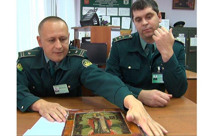 Белгородские пограничники недали вывезти ценную икону