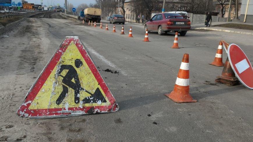 В Каменском начали ремонтировать дорогу на Новом мосту, фото-2