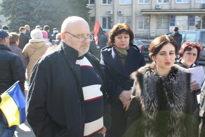 Жители сел Бахмутского района митинговали в Краматорске, фото-4