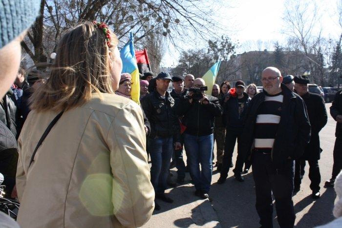 Жители сел Бахмутского района митинговали в Краматорске, фото-5