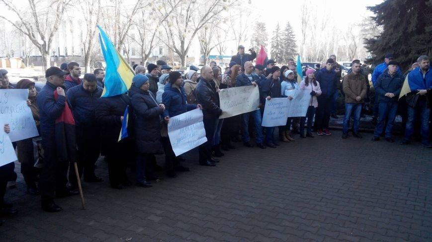 Жители сел Бахмутского района митинговали в Краматорске, фото-2