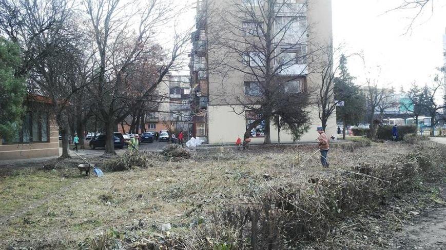 В Ужгороді вперше за декілька років прибирають прибудинкову територію біля ЗОШ №6: фото, фото-2