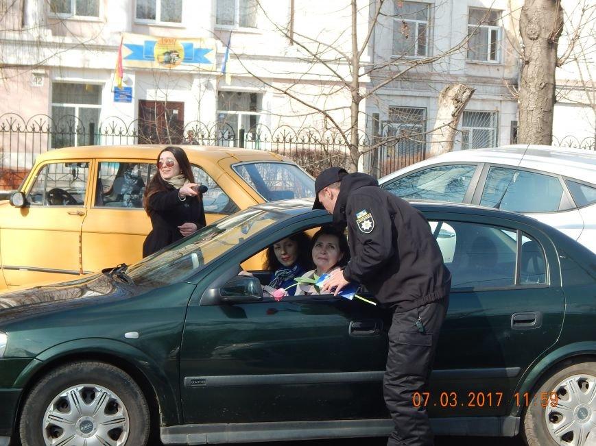 В Каменском полиция останавливала женщин-водителей, чтобы поздравить с праздником, фото-2