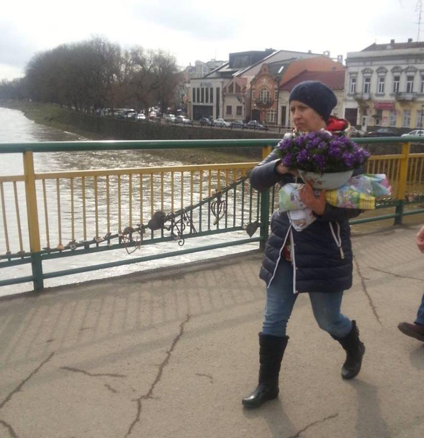 У центрі Ужгорода масово продають первоцвіти: фото, фото-2