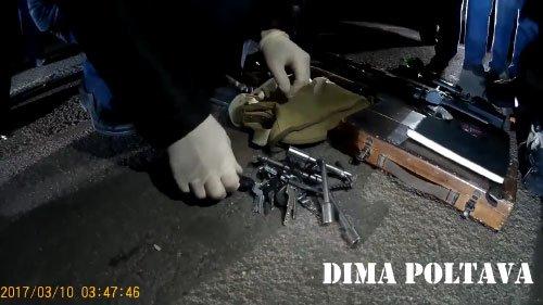 На Полтавщине полиция задержала иномарку с оружием, наркотиками и спецсредствами (фото и видео), фото-2
