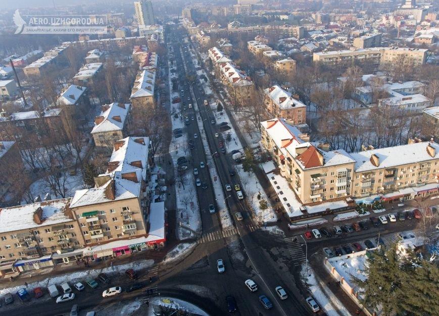 Як виглядає ужгородський проспект Свободи з висоти пташиного польоту: фото, фото-2