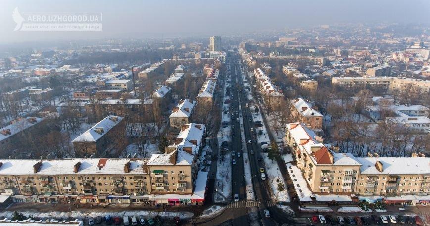 Як виглядає ужгородський проспект Свободи з висоти пташиного польоту: фото, фото-1