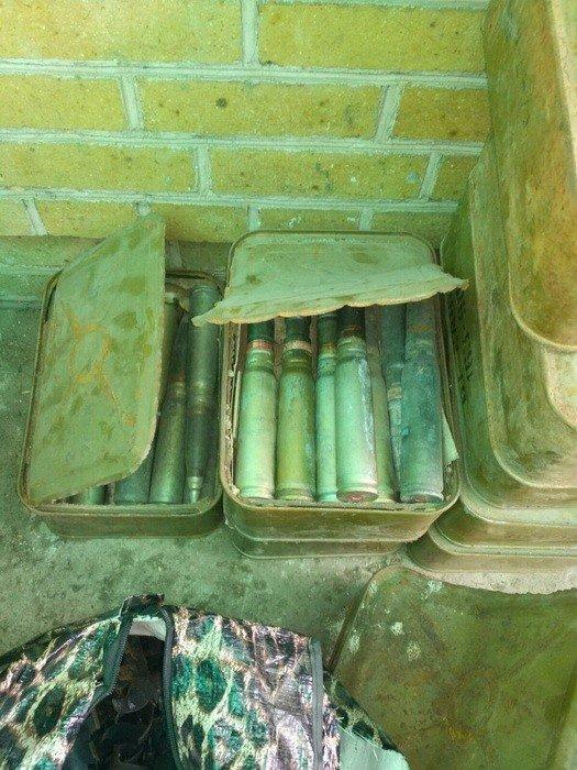 CБУ обнаружила тайник с большим количеством боеприпасов в районе АТО, фото-1