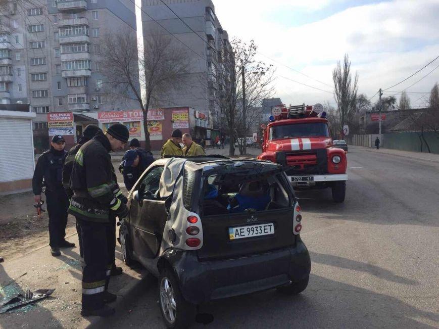 Избегая столкновения: на Янтарной перевернулся Smart (ФОТО), фото-4