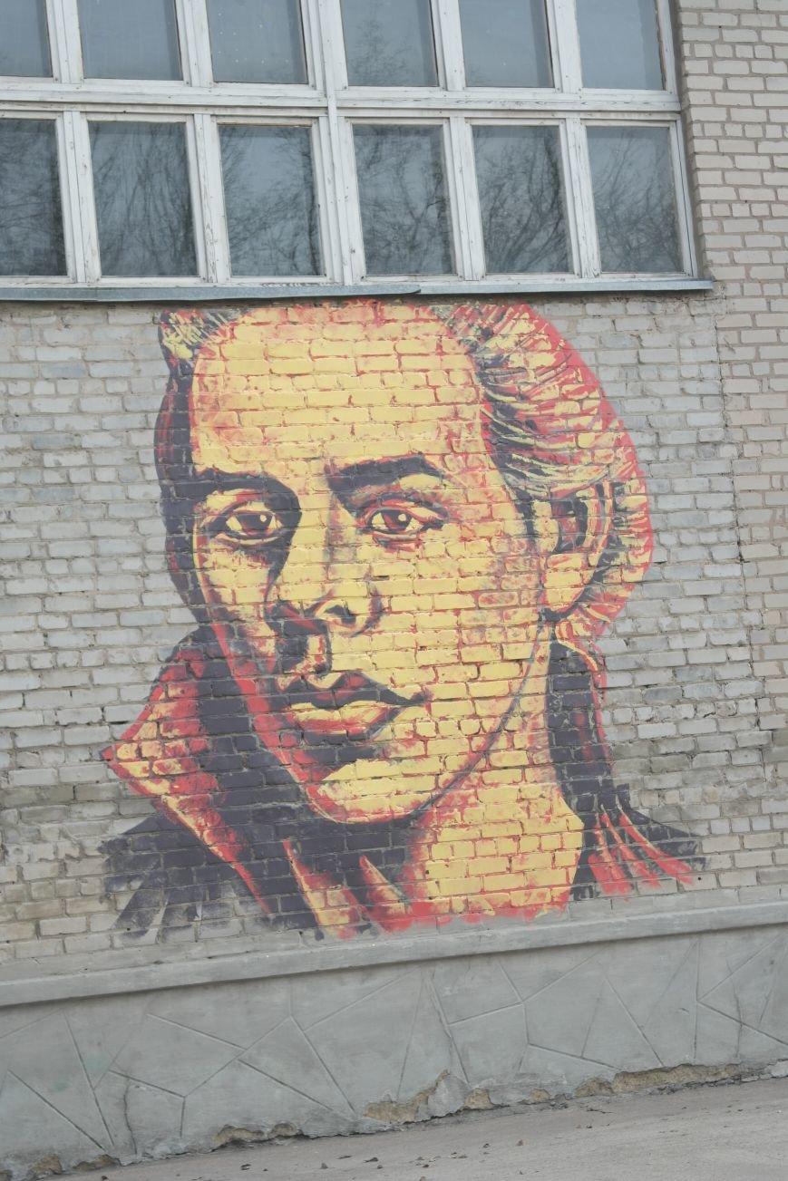 В Покровске появились муралы портретов Тараса Шевченко и Леси Украинки  (ФОТО), фото-2