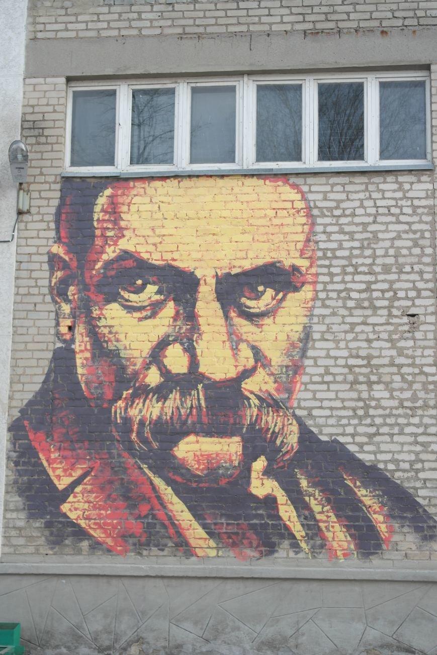 В Покровске появились муралы портретов Тараса Шевченко и Леси Украинки  (ФОТО), фото-3