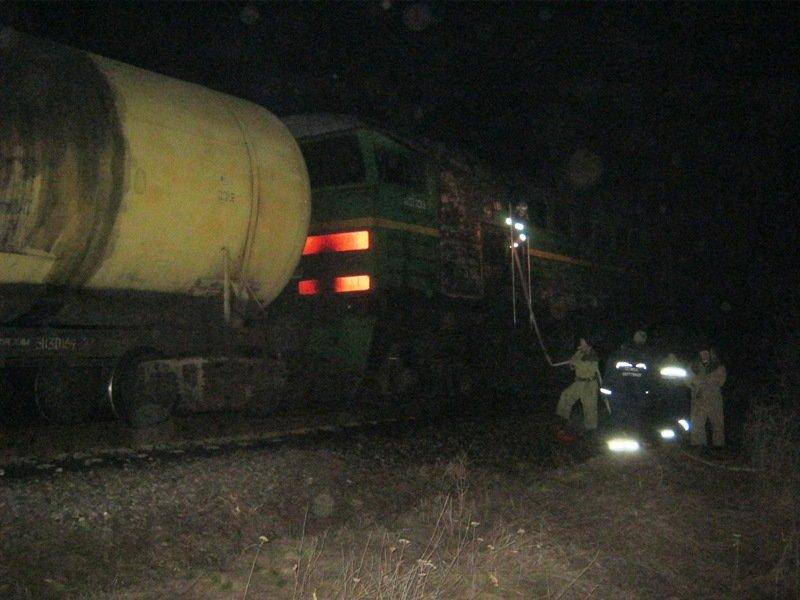На Херсонщині палав потяг (фото), фото-2
