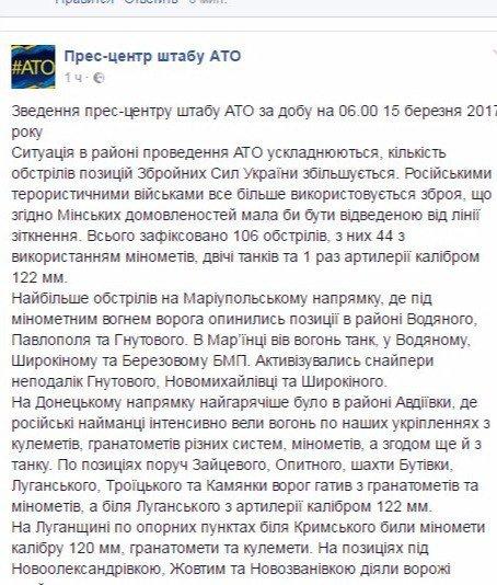 Сутки в АТО: зафиксировали более 100 обстрелов (ФОТО), фото-1