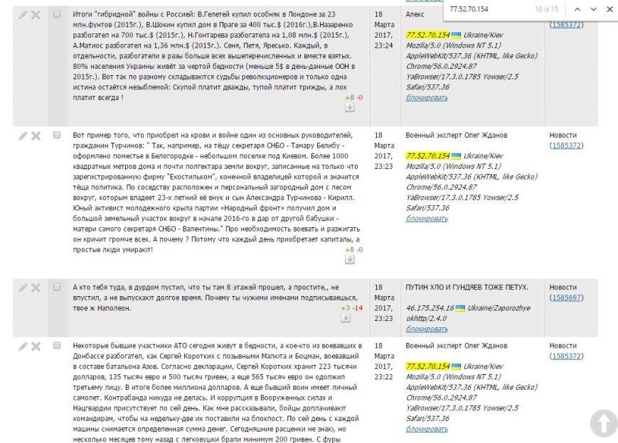 Расследование: кто пишет пророссийские комментарии на 061 и других сайтах сети CitySites, фото-14