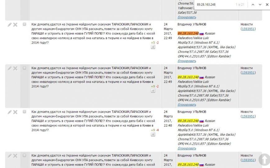 Расследование: кто пишет пророссийские комментарии на 061 и других сайтах сети CitySites, фото-24