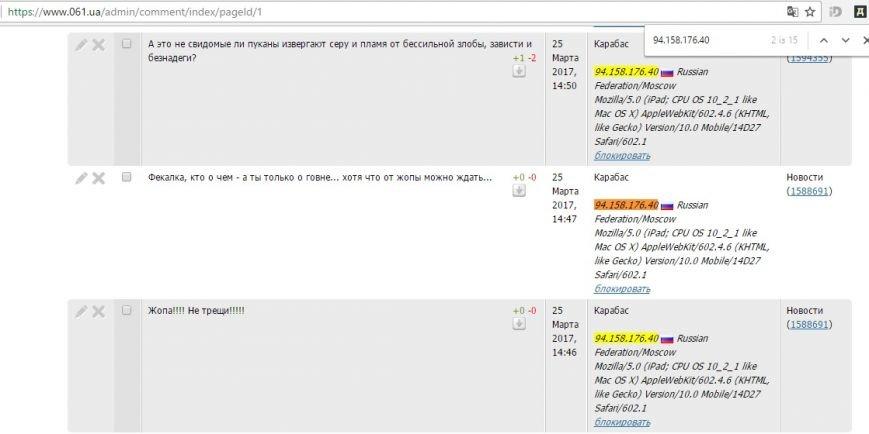 Расследование: кто пишет пророссийские комментарии на 061 и других сайтах сети CitySites, фото-33