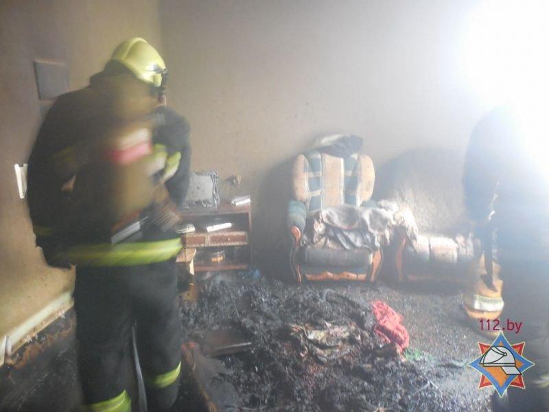 Пожар в многоэтажном доме в Полоцке: погибла женщина, фото-1