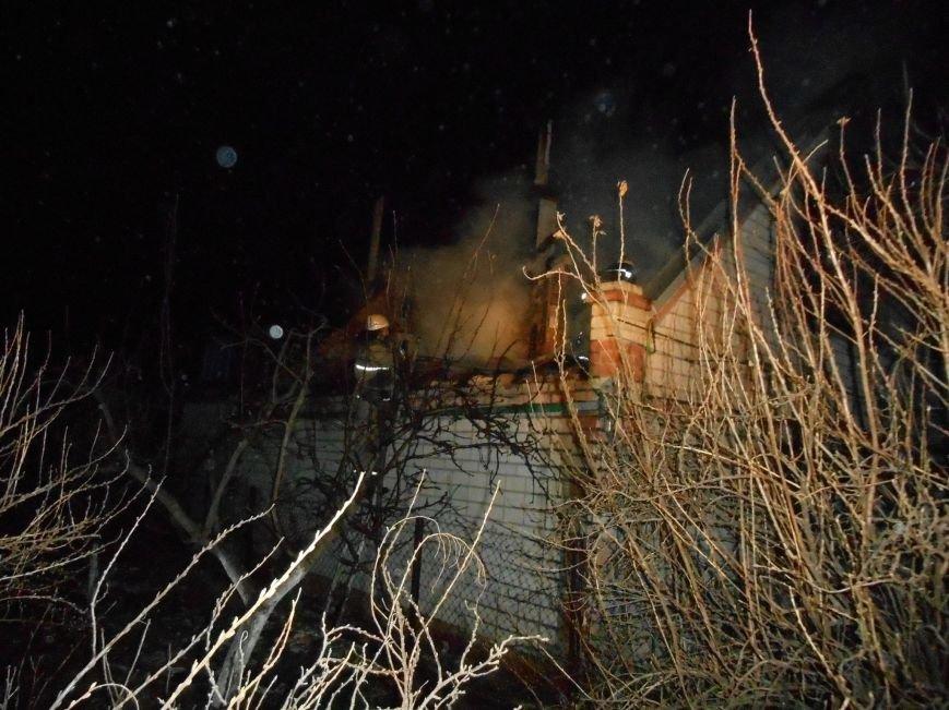 В Новой Каховке горел садовый дом (фото), фото-2