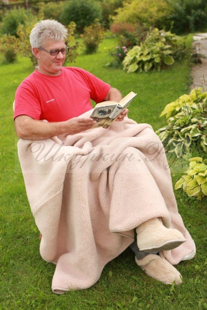 Плед из шерсти мериноса - купить крупной вязки для тепла и уюта!, фото-1