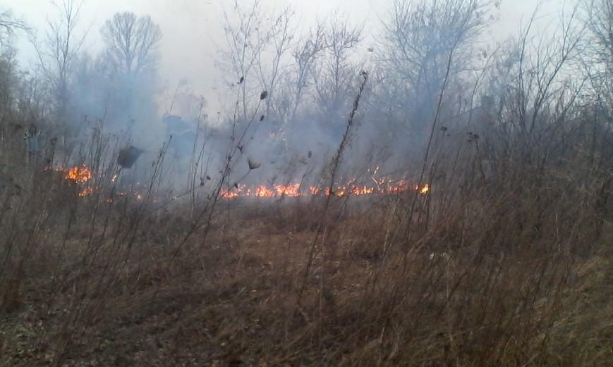 Как кременчугские пожарные в Крюкове сухую траву тушили (ФОТО), фото-4