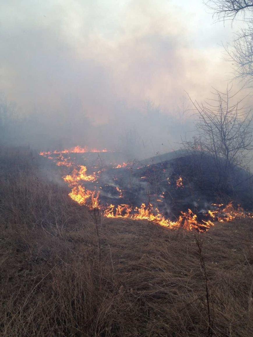 Как кременчугские пожарные в Крюкове сухую траву тушили (ФОТО), фото-3