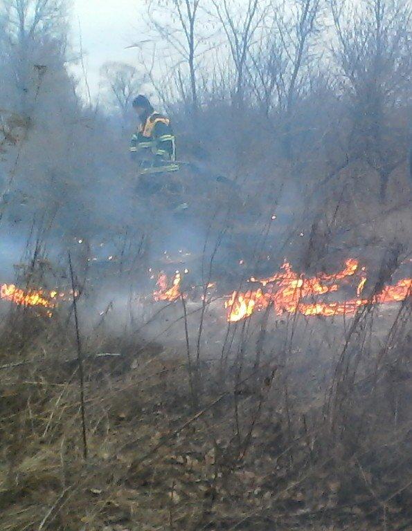 Как кременчугские пожарные в Крюкове сухую траву тушили (ФОТО), фото-5