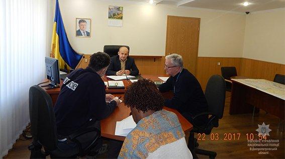 Начальник каменской полиции встретился с представителями ОБСЕ, фото-1
