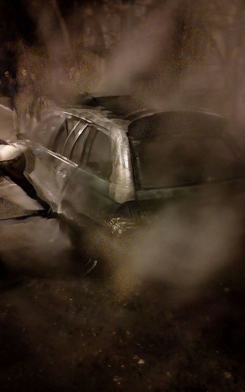 Сгорело BMW5