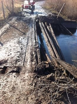 На Луганщине боевики взорвали мост, фото-1