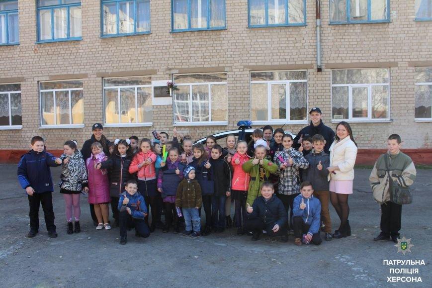 Херсонські патрульні зі школярами провели профілактичну акцію, фото-2