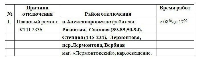 Плановое отключение электроэнергии в Черноморске 27 и 28 марта, фото-1